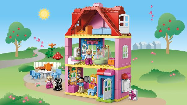 Duplo play house mwende christine pinterest for Modele maison lego duplo