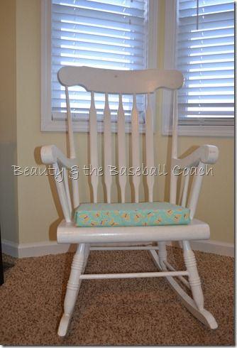 No sew rocking chair seat cushion diy pinterest - Rocking chair cushion diy ...
