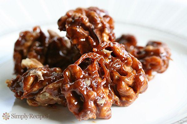 salted caramel sauce flan creme caramel caramel custard spiced walnuts ...