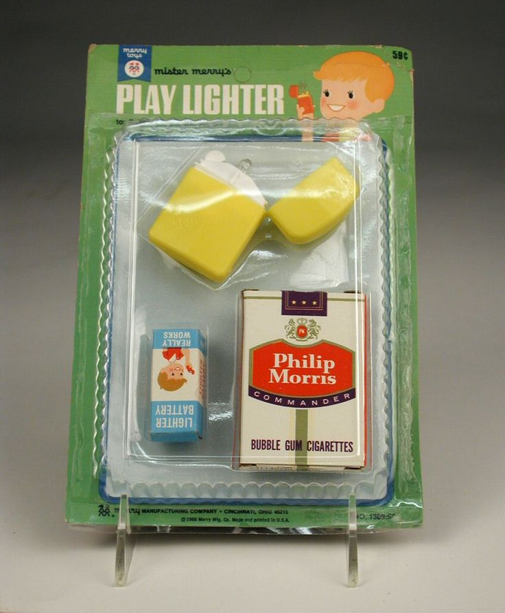 104.1192: Mister Merry's Play Lighter | play set | Play Sets | Toys | National Museum of Play Online Collections | The Strong This was 100% Real, takes those stick pretzel cigarettes to a whole new level