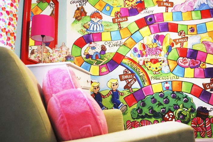 Candyland nursery theme kids room pinterest for Candyland wall mural