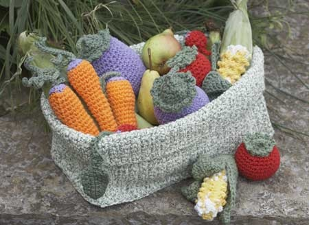 Crochet Patterns Vegetables Free : crochet fruit basket bonnie Pinterest
