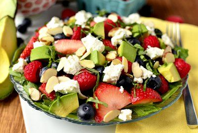 Triple-Berry Summer Salad by Iowa Girl Eats