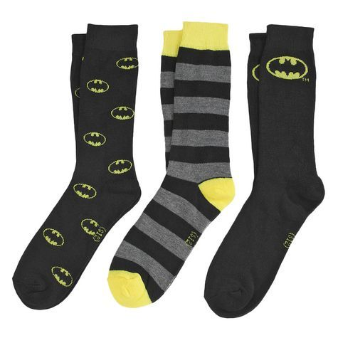 Save the world or just save your feet from being cold by wearing our out of this world superhero socks! Travel to Krypton with a pair of Superman socks or just down to Gotham City with Batman Socks.