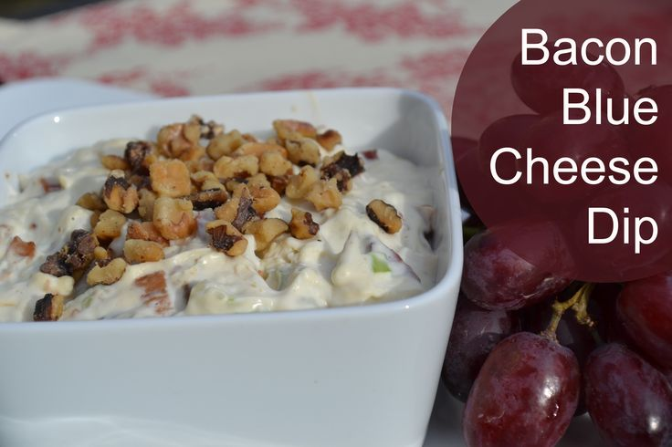 Bacon Blue Cheese Dip Recipe | Food | Pinterest