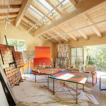 Barn loft studio art spaces pinterest - Art studio ideas ...