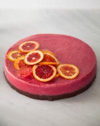 Blood Orange Sherbet Cake with Chewy Chocolate Crust | Recipe