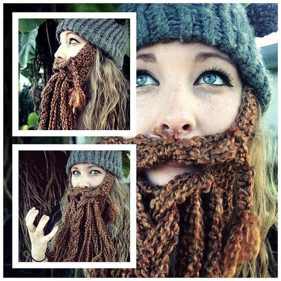 Crochet Dwarf Beard Hat Pattern : CUSTOM Crocheted Epic Dwarf/Viking Beard and Helmet