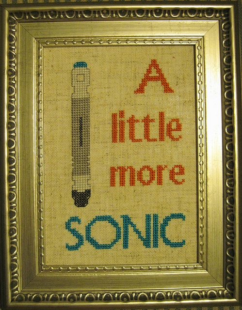Sonic Screwdriver cross stitch by krupp on flickr.com