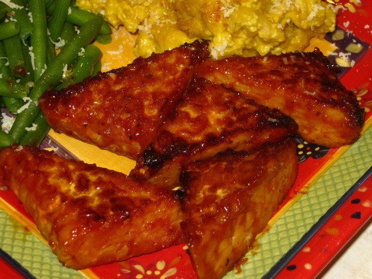Orange-Soy Glazed Tempeh Triangles | Favorite Recipes | Pinterest