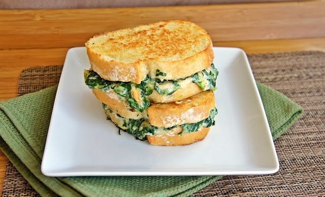 Spinach & Artichoke Grilled Cheese | Food & Drink | Pinterest
