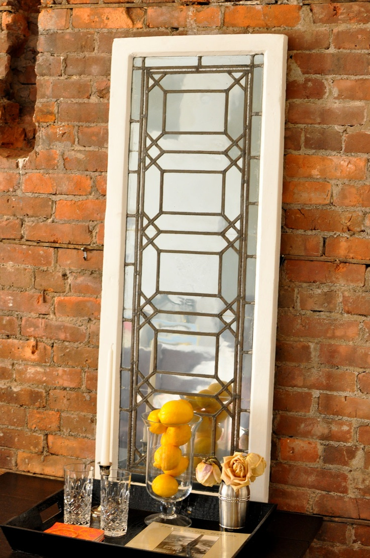 Upcycled Vintage Window Frame Mirror Home Decor Pinterest