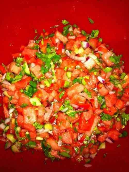 watermelon salsa | Recipes | Pinterest