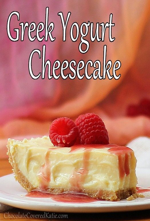 Greek Yogurt Cheesecake | Desserts | Pinterest