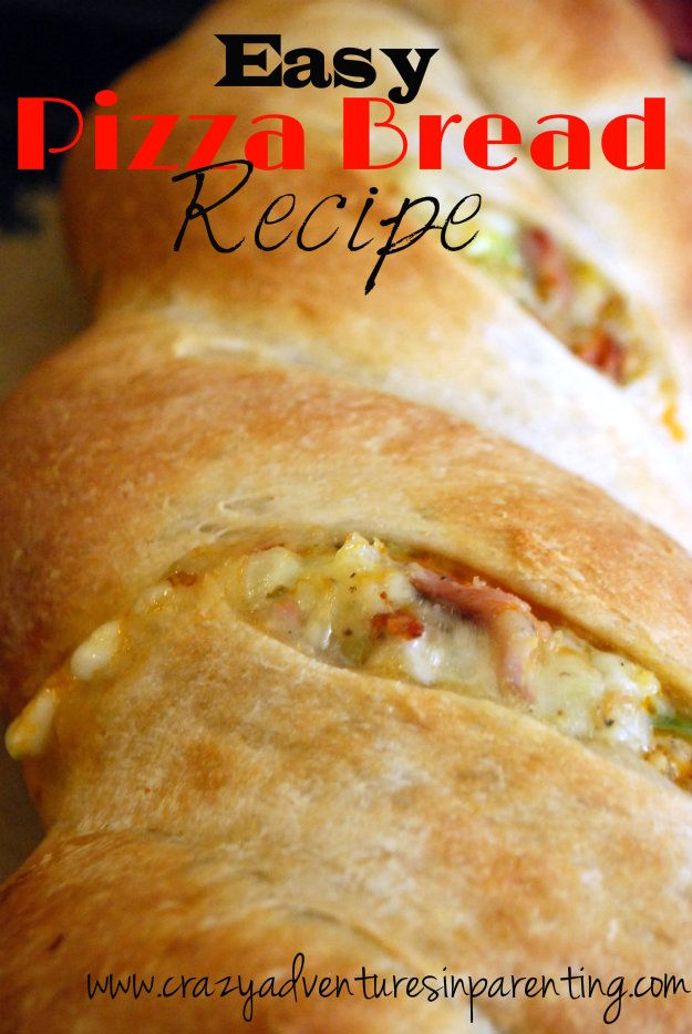 Easy Pizza Bread Recipe - (I've had this orig. version & made a littl...