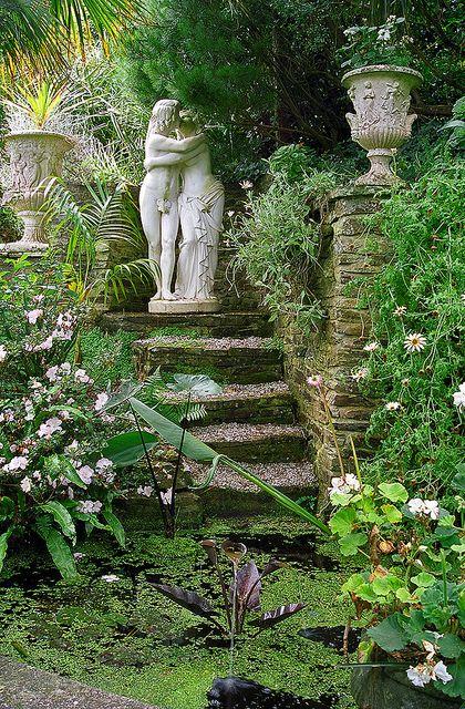 Lamorran House Gardens, Cornwall, UK