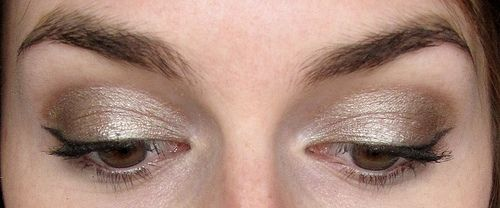 a shimmery winged eye, with instructions.