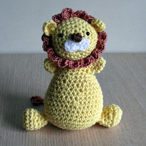 Crochet Patterns Jungle Animals : CROCHET PATTERN Jungle King - Amigurumi Lion - Pattern PDF. $3.99, via ...