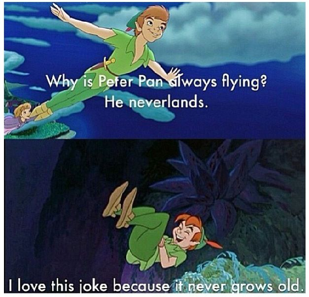 Corny Joke but so adorable! #NotMine #PeterPan