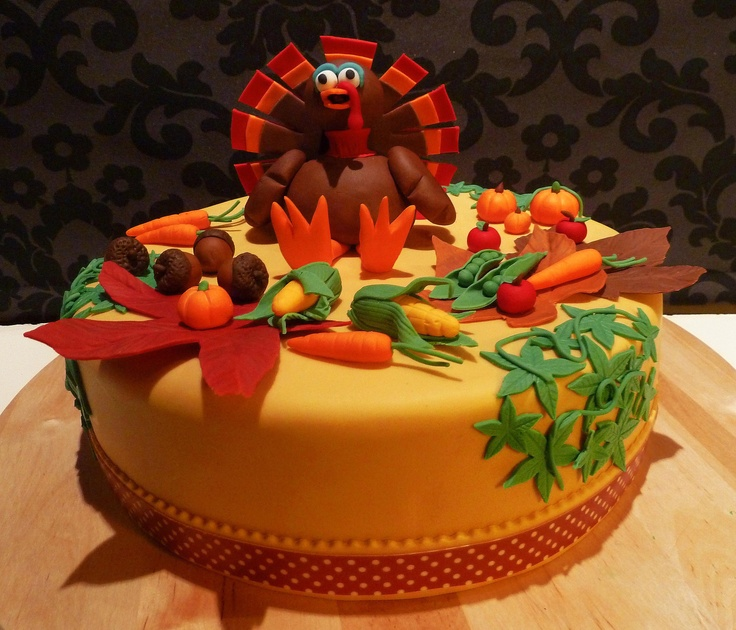 Thanksgiving cake CAKES DE ACCION DE GRACIAS Pinterest