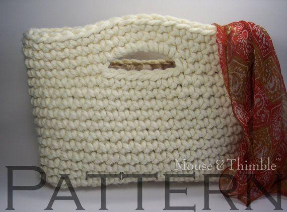 Free Crochet Flower Basket Pattern : Basket handbag flower easy crochet pattern pdf