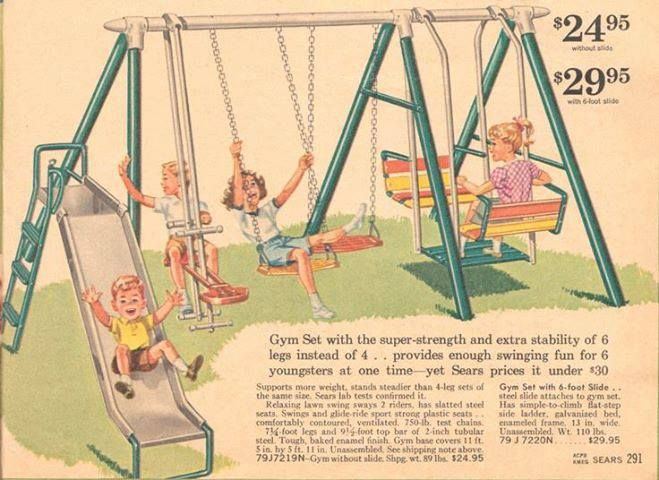 swing set in vintage Sears catalog | Toys and Games ...