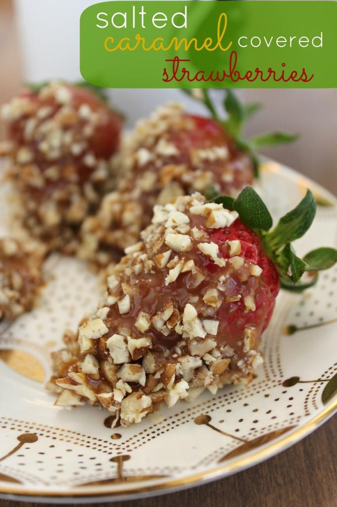 Fun with the Fullwoods: Salted Caramel Covered Strawberries