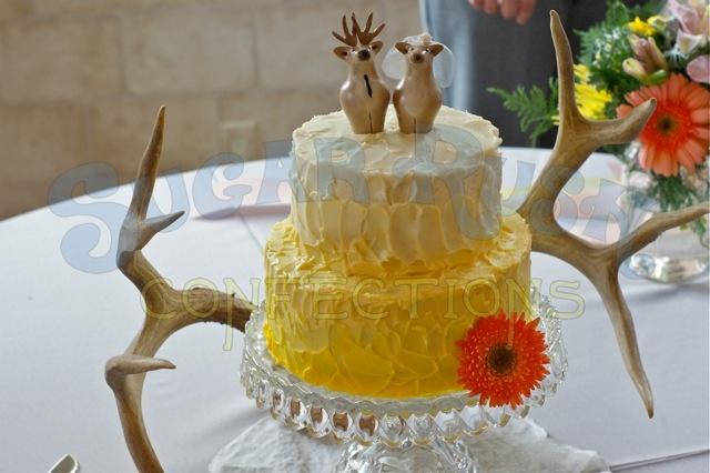 Gluten Free Yellow Ombré Wedding Cake | SRC Wedding Cakes | Pinterest
