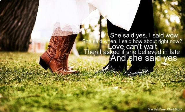 she said yes.