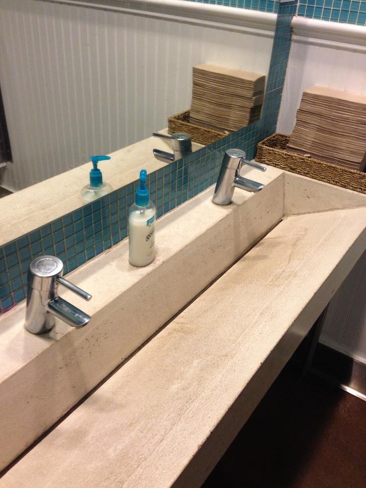fabrication of stone sink. stone Pinterest