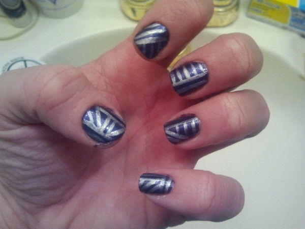 Silver Nail Designs Pinterest