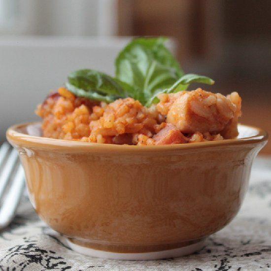 Andouille, Chicken, And Shrimp Jambalaya-Stuffed Peppers Recipe ...