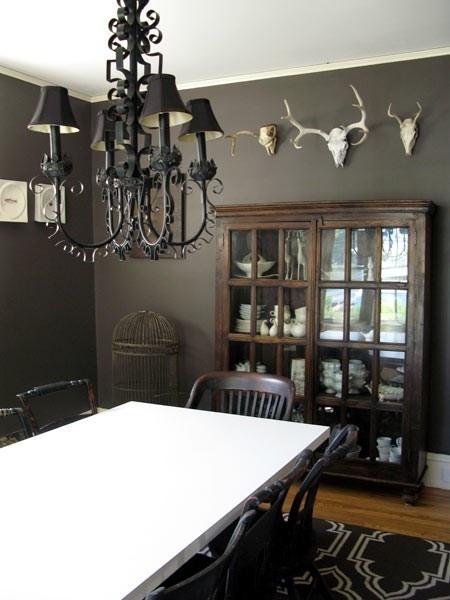 gothic dining room by clara dark browns pinterest
