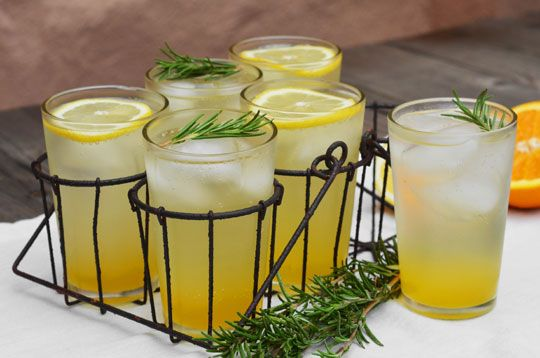 rosemary citrus spritzer with freshly squeezed lemons and oranges ...
