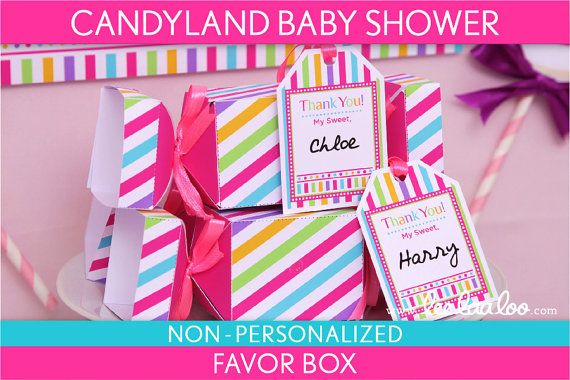 candyland baby shower favor box bonus favor tags nonpersonalized p