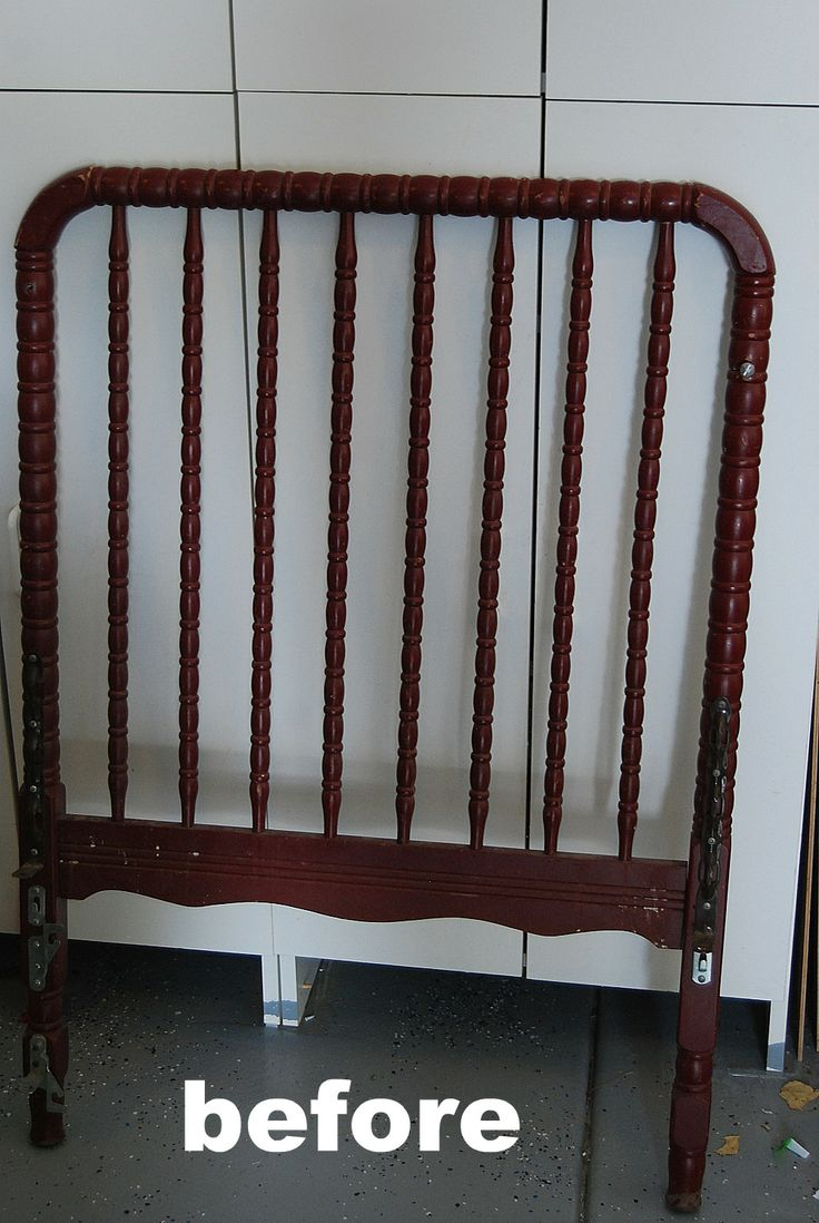 Spring project make a bench out of an old crib - Respaldo para sofa ...