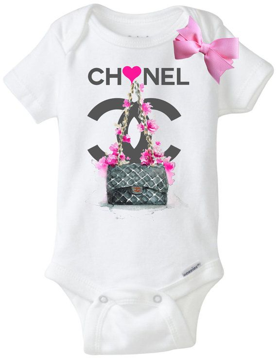 Chanel flower and purse onsie - Chanel diva futura ...