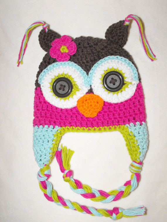 crochet owl hat I love to Crochet Pinterest