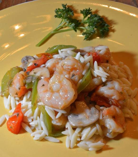 Shrimp and Orzo Pasta | Food | Pinterest