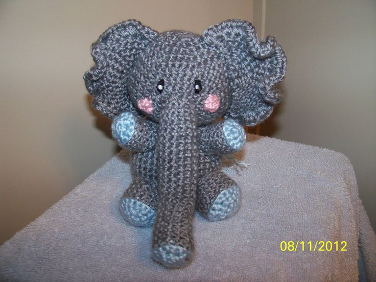 Crochet Elephant : Crochet elephant ANY colors you want Can rattle too. $15.99, via Etsy.