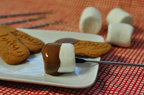 Pork Cracklins | Chocolate Peanut Butter Fondue