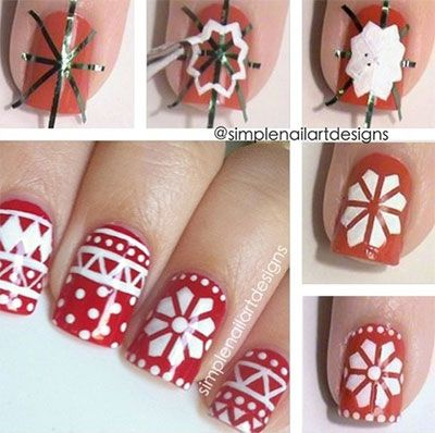 Easy Christmas Nail Art Tutorials 2013/ 2014 | X mas Nails | Girlshue