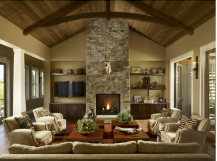 Awesome fireplace great room for the home pinterest for Great room fireplace