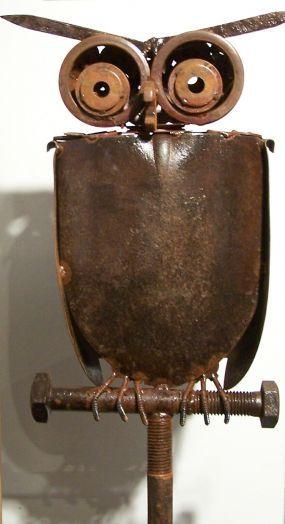Сова из лопаты декор для дачи