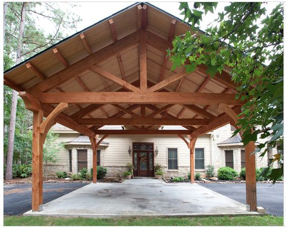 Carport Timber Frame Style For The Home Pinterest