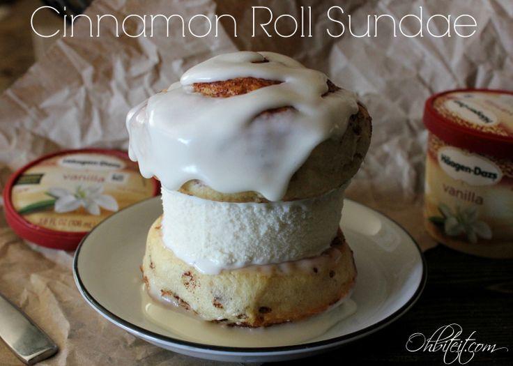 Cinnamon Roll Sundae! | GELATO & OTHER FROZEN TREATS YUMMY | Pintere ...