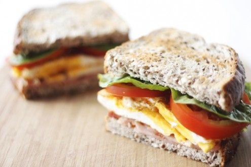 , lettuce, egg and tomato This is a hearty Sunday morning breakfast ...