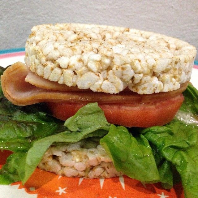 Rice cake turkey sandwich | Rice cake sandwiches | Pinterest