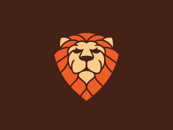 Designer with lion logo