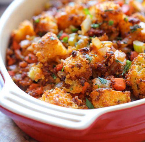 Chorizo Cornbread Stuffing | FOOD | Pinterest